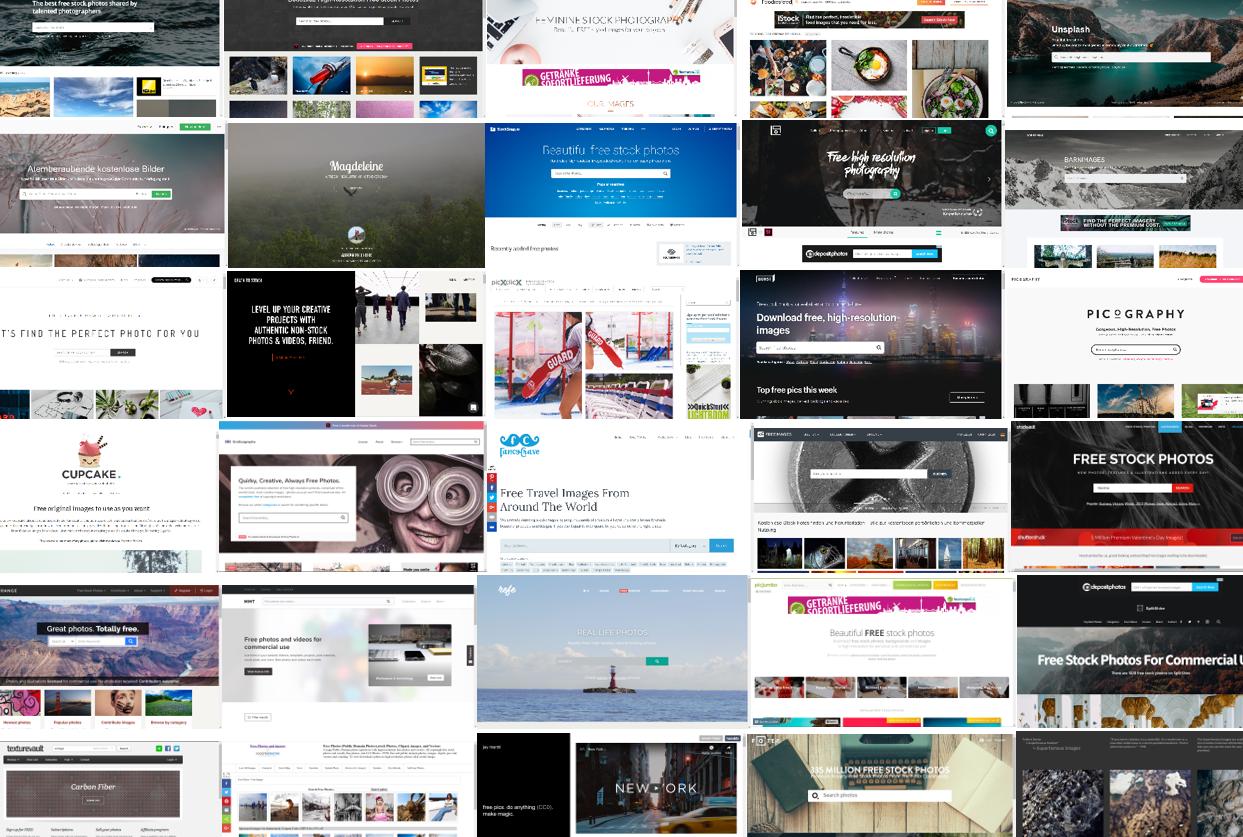 47 Webseiten für kostenlose Bilder