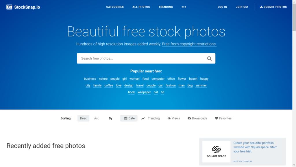 Stock Snap Screenshot