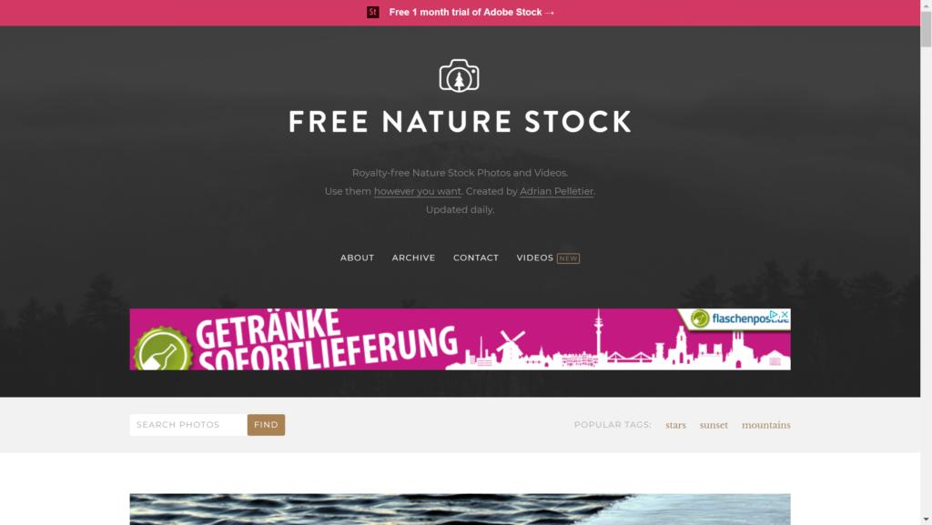 Free Nature Stock Screenshot