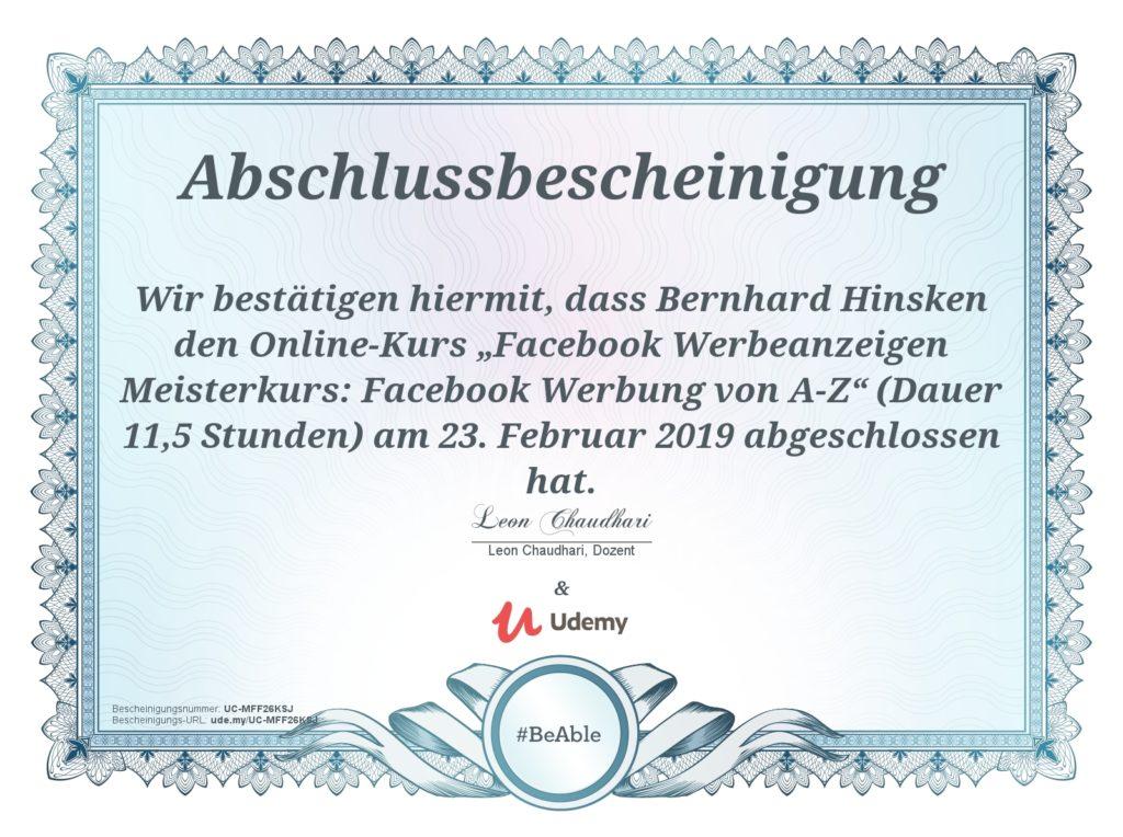 Facebook Ads Online Kurs 01