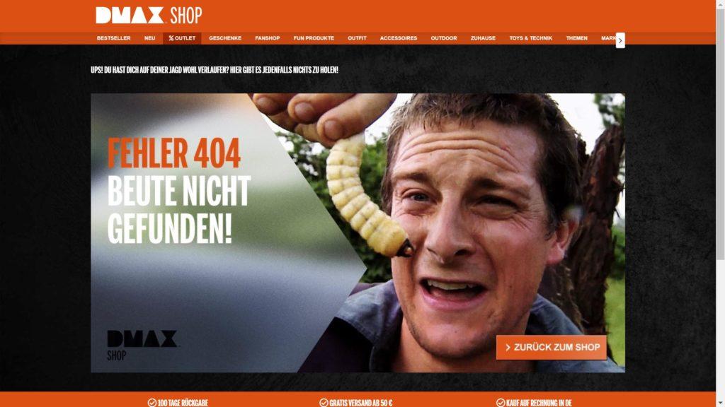 DMAX shop 404
