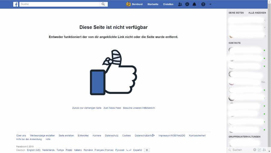 Facebook 404