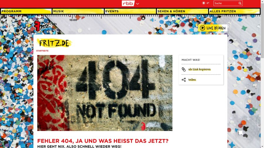 Error 404 – 137 kreative Fehlerseiten