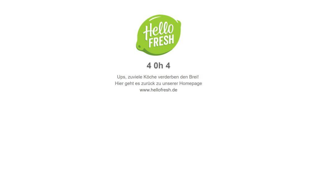 Hello Fresh 404