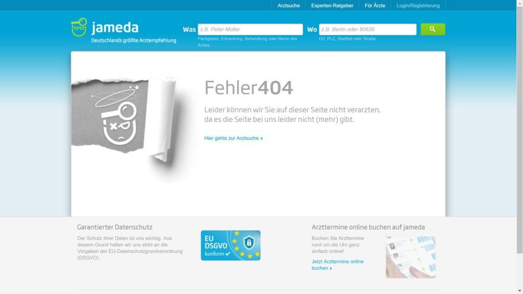 Jameda 404