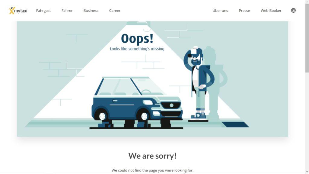 myTaxi 404