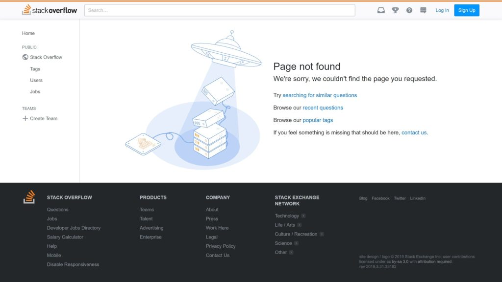 stack overflow 404